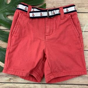 Janie and Jack baby boy's pink chino shorts